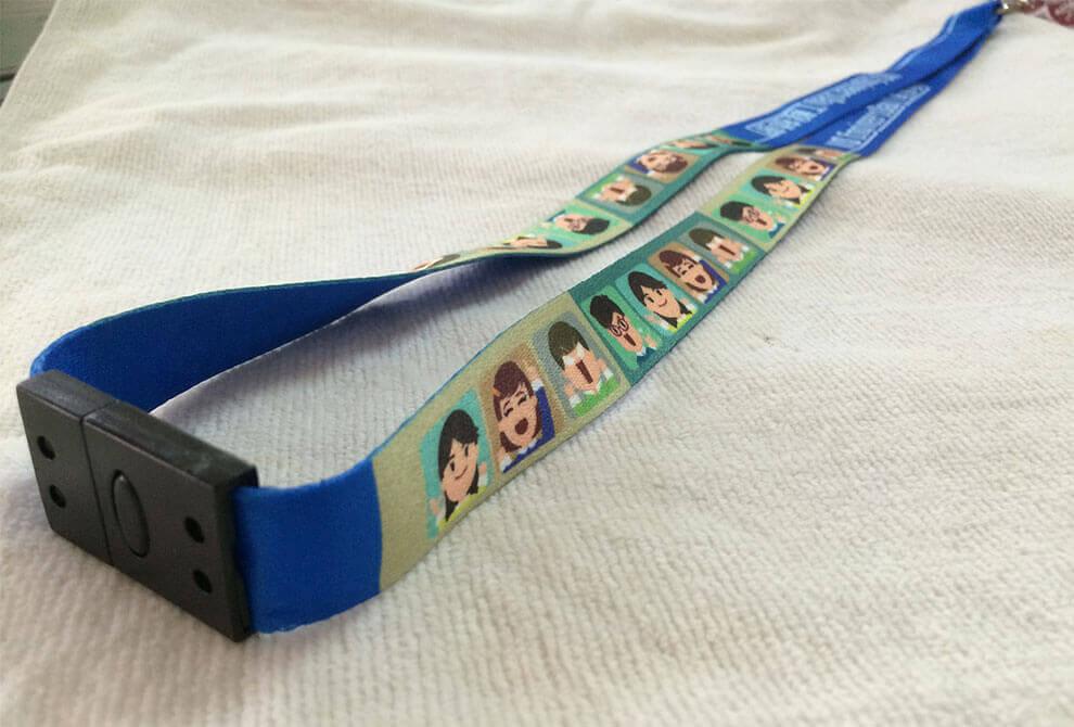 深藍色頸繩數位印刷